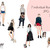 Watercolour fashion illustration clipart - Girls with Dogs 2 - Light Skin