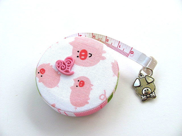 Pocket Tape MeasurePink Pigs Retractable Measuring Tape