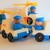Vintage Fisher Price Little people- 2 Mail cars & 2 Helicopters plus 4 mailmen