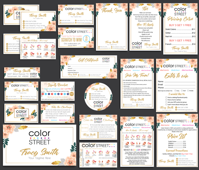 Color Street Marketing Kit, Color Street Marketing Package, Printable Digital