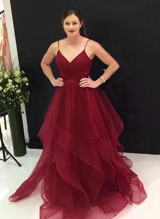 730d86c3618 2019 Burgundy long prom dress