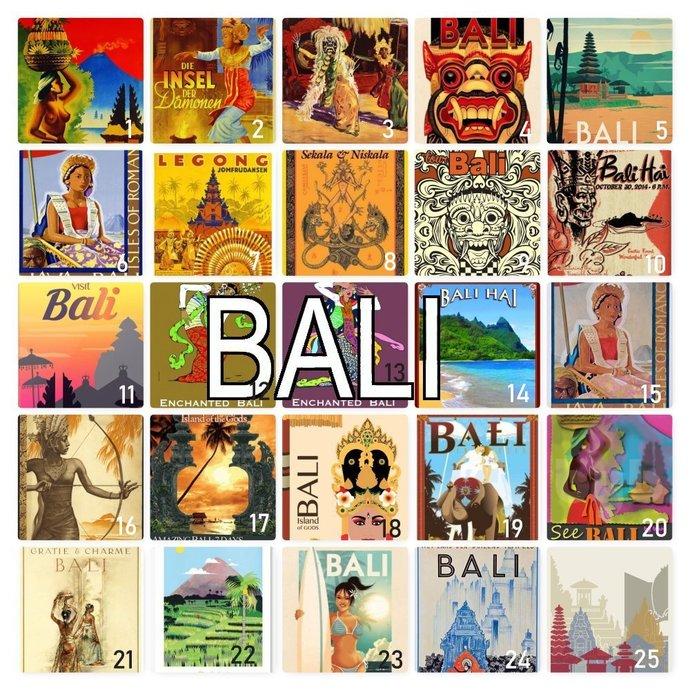 New Bali Travel Poster Postcards By Cherished Postcards On Zibbet