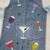 Full Apron, Recycled Denim, Long Apron, Handmade and Hand Painted, Drink