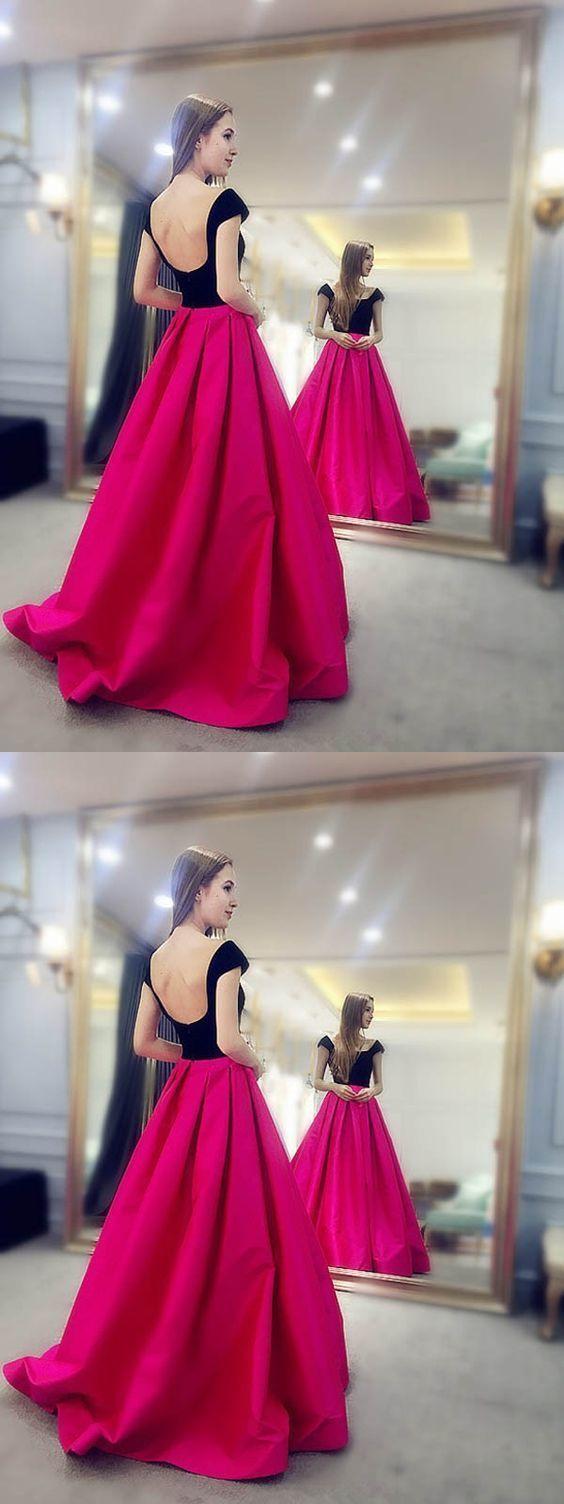 Charming Prom Dress, Long Prom Dresses, Sexy Cap Sleeve Formal Evening Dress