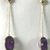14 K Gold Natural Amethyst Oval  Dangler Earring Jewelry