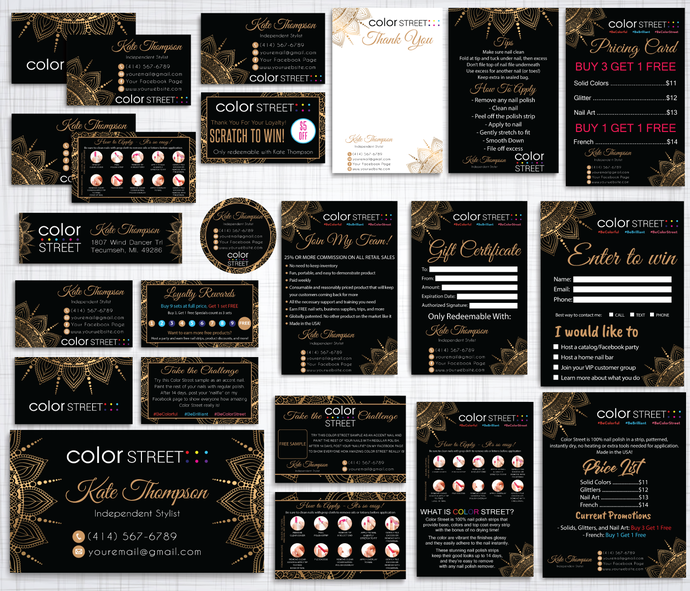 Color Street Marketing Kit, Color Street Marketing Package, Personalized Color