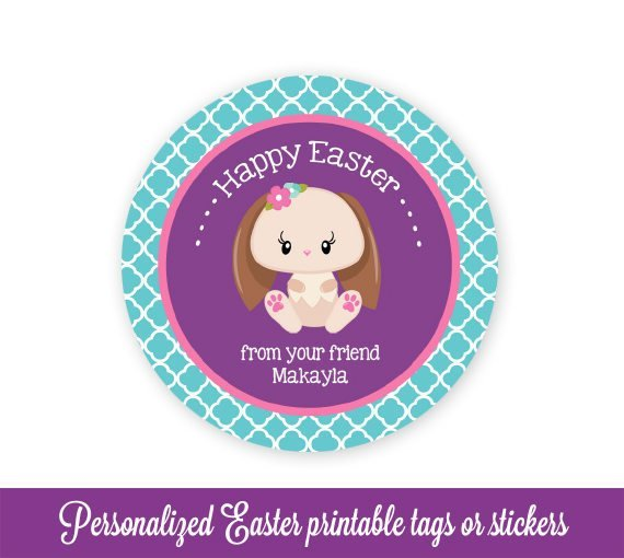 Easter Gift Tags, Bunny Easter Bag Tags, Easter Favor Tags, Easter Tags, Easter