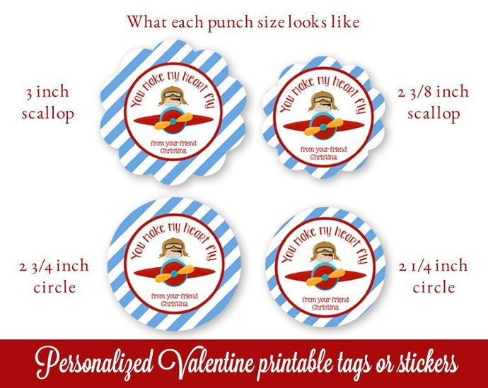 Class Valentines, Kids Valentines Tags Printable, Personalized Valentines Gift