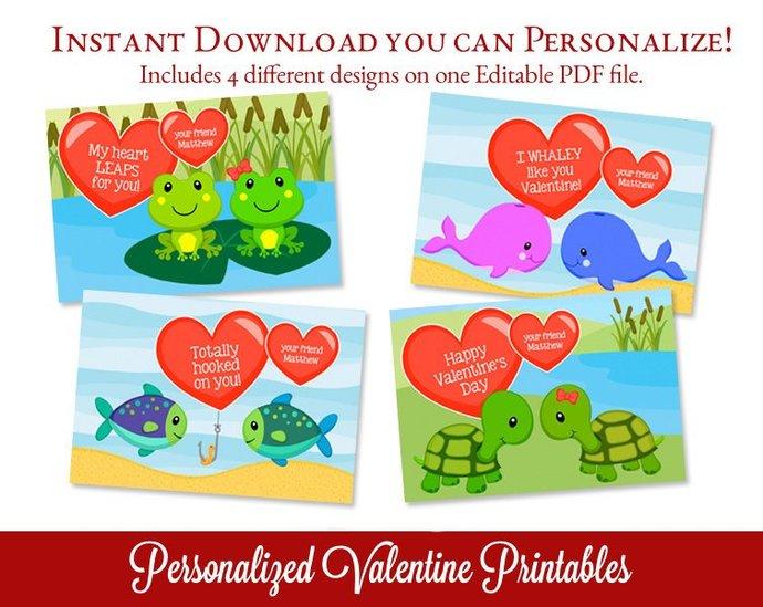 Kids Valentine, Valentine's Day Card, School Valentine, Class Valentine, Happy
