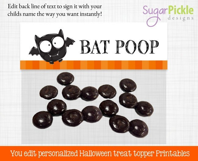Halloween Goodie Bag Toppers, Goodie Bag Topper, Loot Bag Label, Halloween
