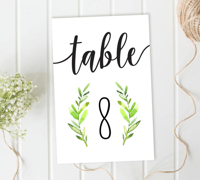 Wedding Table Numbers, Wreath Table Numbers, Reception Table Numbers, DIY