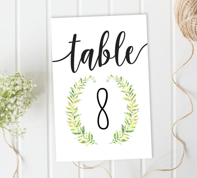 photo regarding Printable Table Number referred to as Desk Selection Playing cards, Wreath Desk Figures, Marriage ceremony Reception Desk Figures, Do-it-yourself Wedding ceremony, Printable Desk Figures, Calligraphy Desk figures