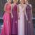 Sexy Convertible A-line Floor-Length Chiffon Bridesmaid Dress Hot Formal Dress