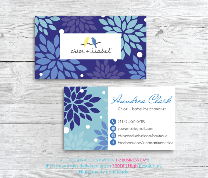 Personalized Chloe + Isabel Business Cards, Chloe + Isabel Business Cards, Chloe