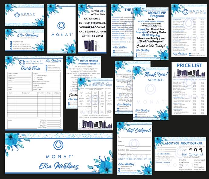 Monat Marketing Kit, PERSONALIZED Monat Marketing Bundle, Custom Monat Business