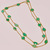 Gorgeous !  925 Sterling Silver Faceted Natural Chrysoprase Apple Green Royal