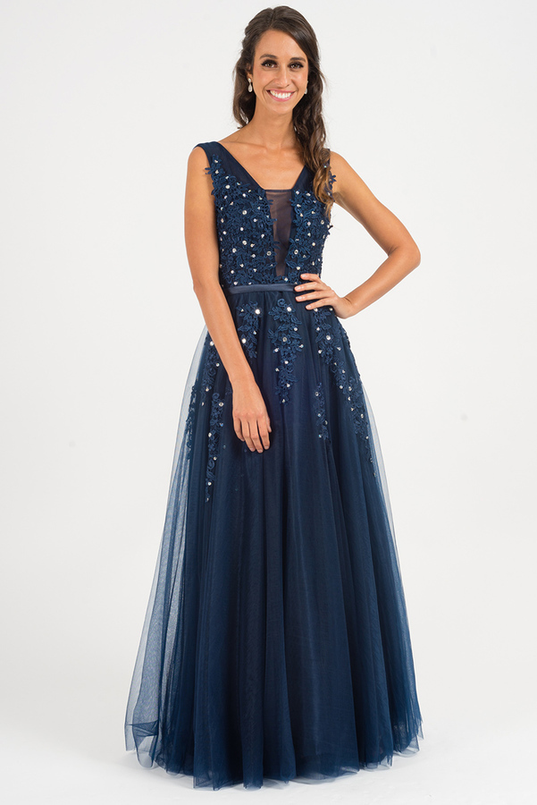 Blanche Embellished Tulle Formal Dress In By Prom Dresses On Zibbet