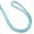Semi Precious Micro Faceted Natural Aquamarine Beads Necklace,Aquamarine
