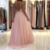 Blush Pink Halter Chiffon Open Back Long Prom Dress,Formal Gown With Beaded Top