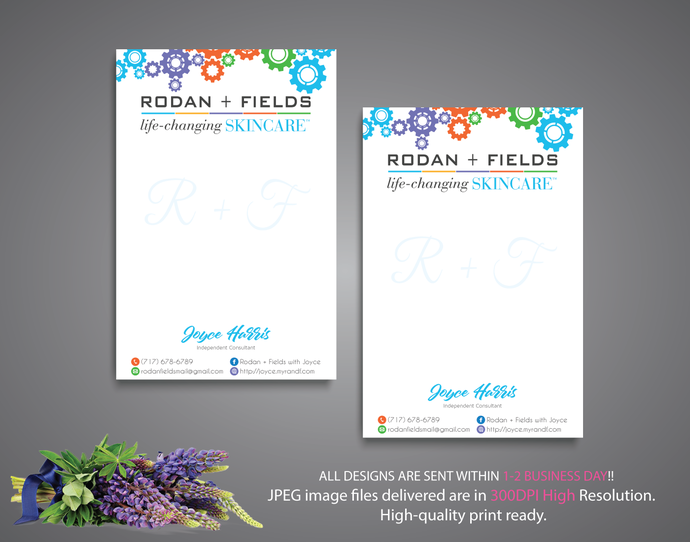 Rodan and Fields Notepad, Rodan and Fields Note Card, Rodan and Fields Business