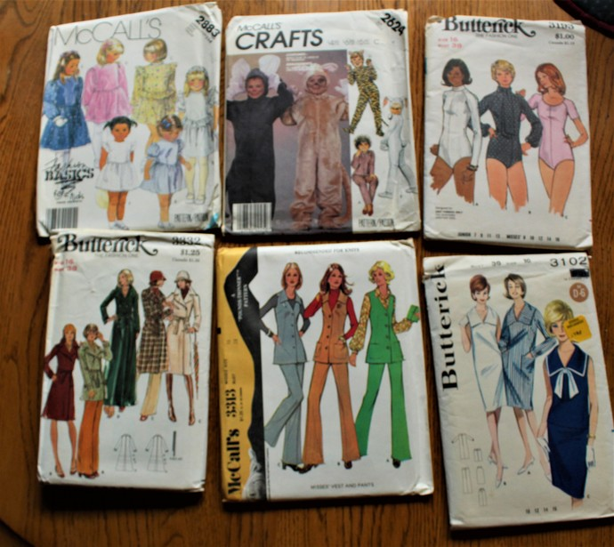 Vintage McCalls & Butterick Sewing Patterns