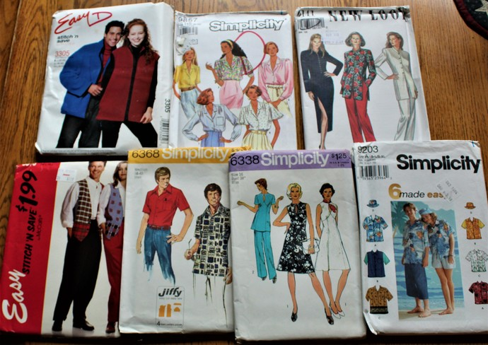 Vintage McCalls & Simplicity New Look & Easy Patterns