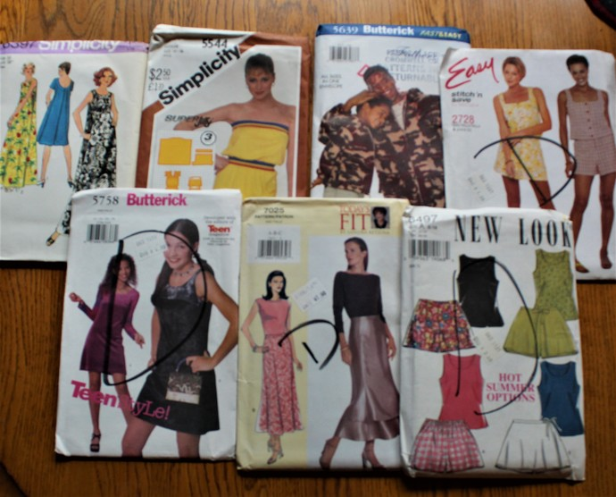 Vintage Sewing Easy/New Look/Today's Fit/ Simplicity Patterns