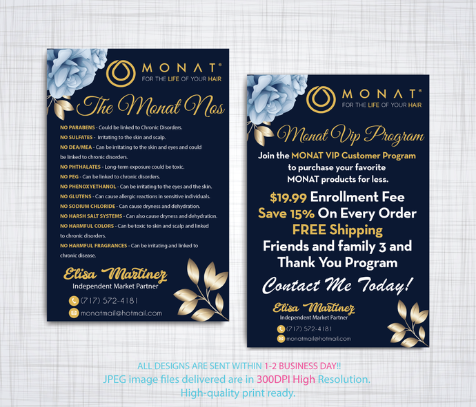 Monat VIP Program, Buyer Cards, Monat NOs Cards, Monat Business VIP Program