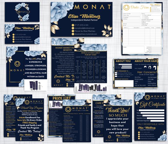 Monat Marketing Kit, PERSONALIZED Monat Marketing Bundle, Custom Business Card,