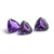8MM Trillion  African Amethyst  faceted Flawless Loose Gemstone AAA Quality
