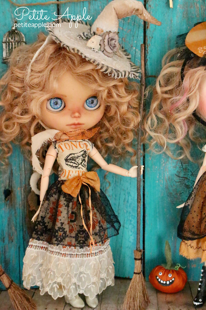 Witch magic broom for Dolls, Blythe, Pullip, Monster High, Barbie and more...#2