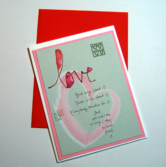 Love handmade greeting card valentines day by smiles4paper on love handmade greeting card valentines day greeting card lucky to have found m4hsunfo