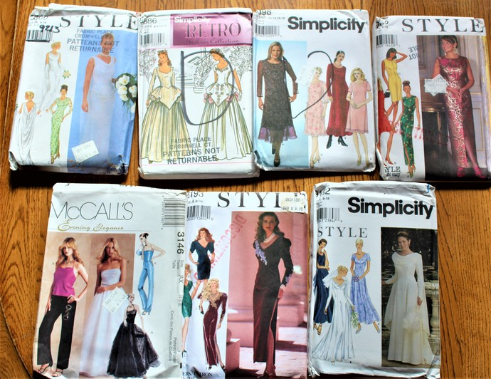Vintage Wedding/Formal Gowns Sewing Patterns by ScrapPantry on Zibbet