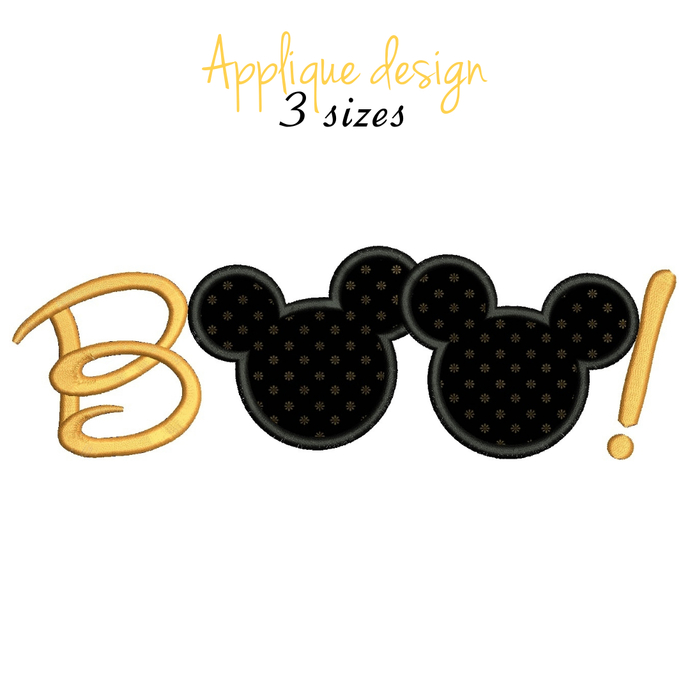 Halloween Mickey Boo embroidery machine designs digital instant download pattern