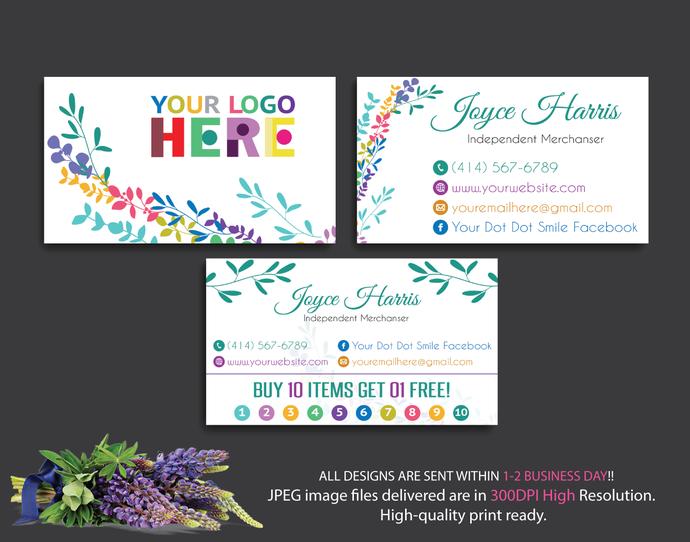 Get Dot Business Cards Background