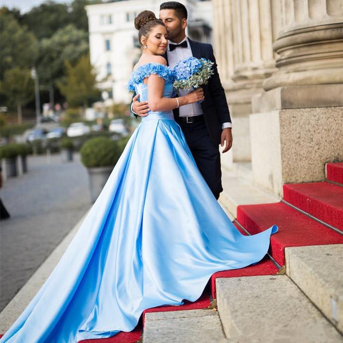 New Arrival Prom Dress,Modest Prom Dress,prom dress,flower wedding dress,wedding