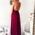 2019 Spaghetti Straps Burgundy long prom dress, evening dress,Ball Gown,prom