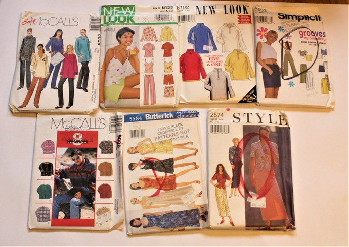 Vintage Sewing New Look/Butterick/McCalls/Style/Patterns