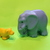 Fisher Price Little people- Molded Blue Elephant and Lion Cub -goes with Zoo Set