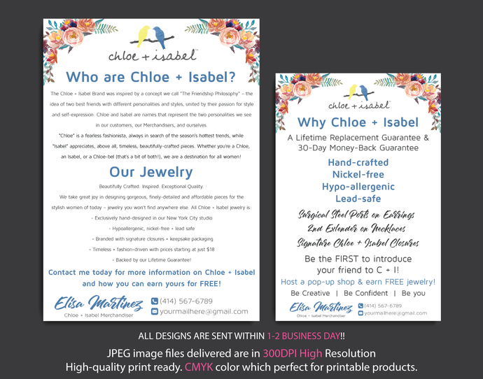 Why Chloe and Isabel Cards, Who are Chloe and Isabel card, Personalized Chloe