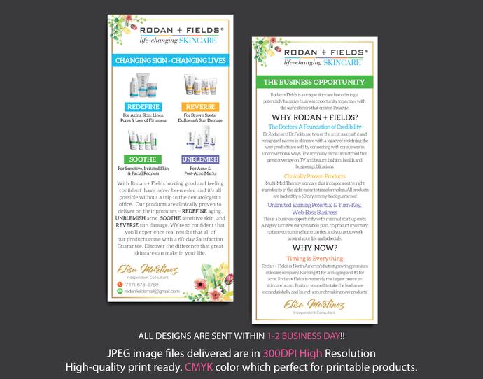 Rodan and Fields Business Opportunity Flyer, Rodan and Fields Business