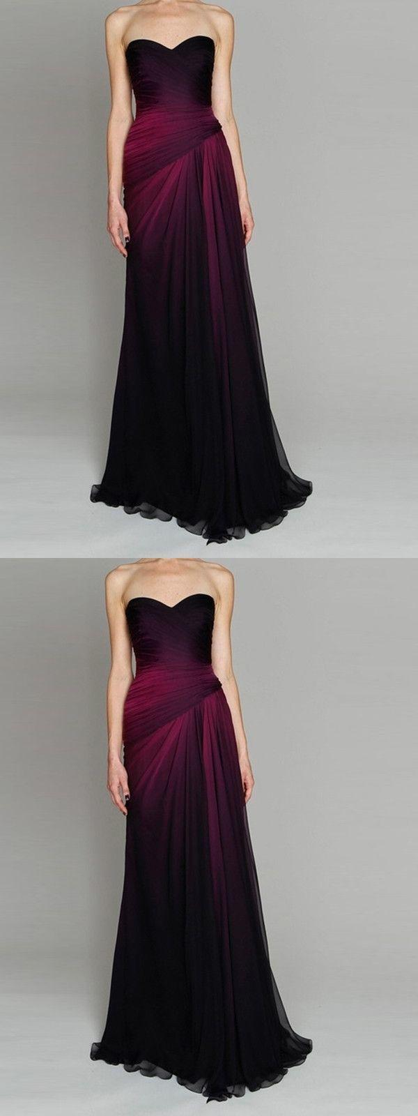 c02271c5c51 Ombre Black Prom Dress Cheap Long Sweetheart By Meetbeauty On Zibbet