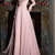 Chiffon Jewel Neckline Long Sleeves A-line Prom Dress With Lace Appliques,Sexy