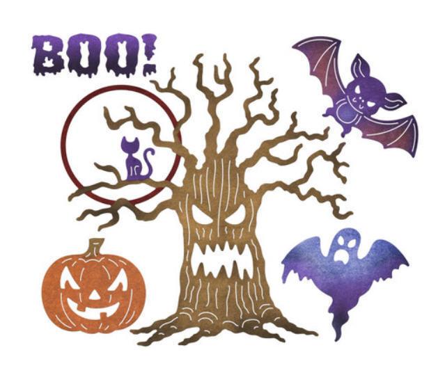 spooky halloween tree pumpkin bat by pinkpoodlecrafts on zibbet