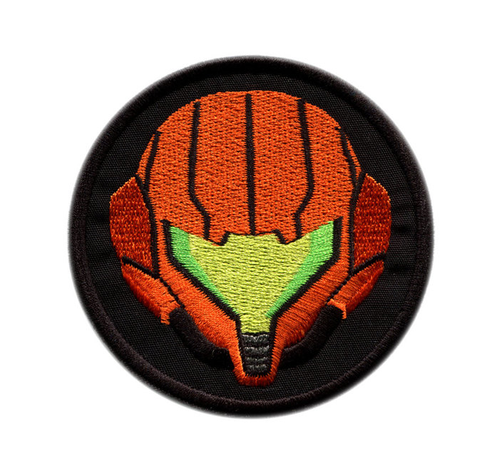 Metroid Samus Emblem Iron On Patch
