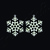 FSL jewelry Christmas snowflake earrings, christmas tree decoration Free