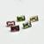Amazing Color ! Multi Tourmaline  Semi Precious  Faceted  6x4 Emerald Cut
