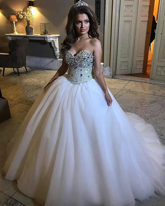 Bridal Dresses,Sparkly Corset Ball Gowns by prom dresses on Zibbet