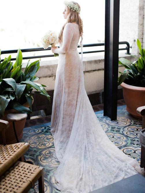 A Line Plus Size Sheath Lace Wedding By Prom Dresses On Zibbet