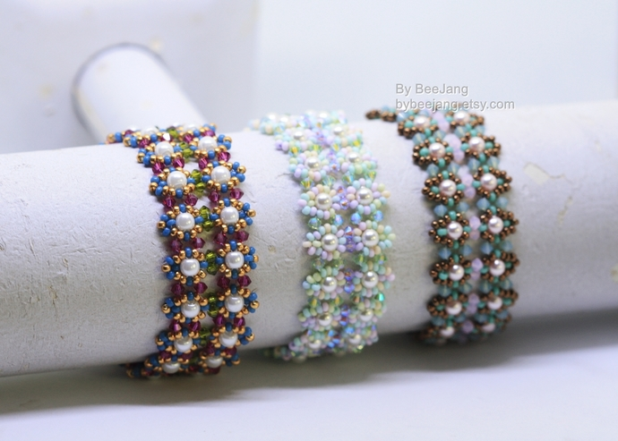 PDF Tutorial - Gracelyn Bracelet Instant Digital Download Beading Patterns